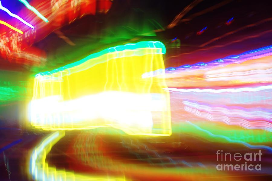 Neon Photograph - Neon Beer by Lynda Dawson-Youngclaus
