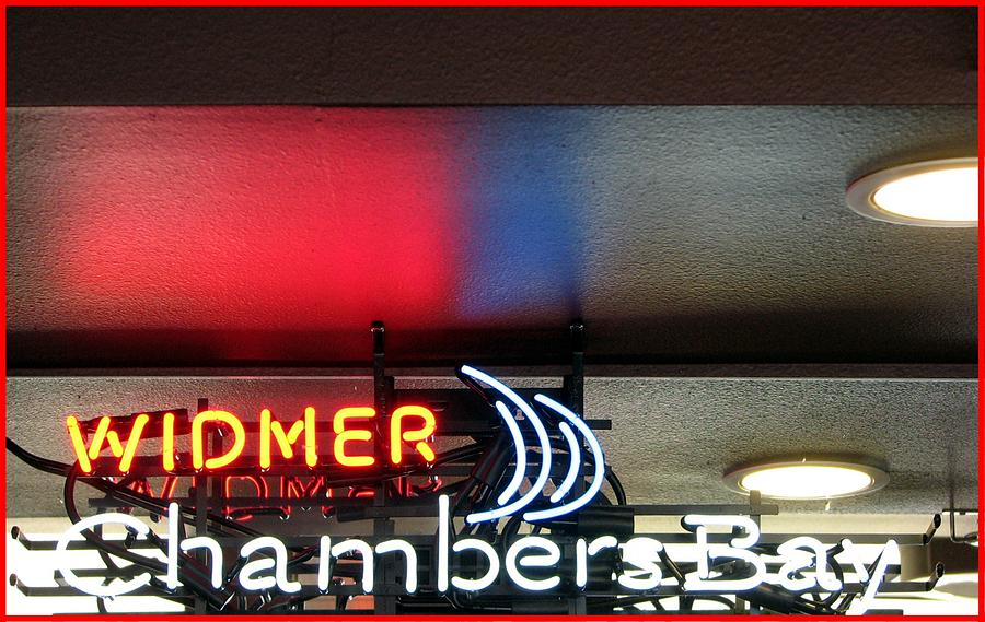 Chambers Creek Photograph - Neon by Chris Anderson