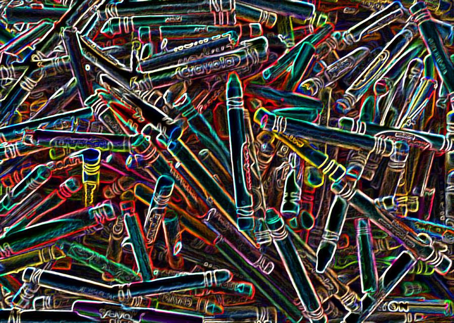 Neon Photograph - Neon Crayons by Bernadette Kazmarski