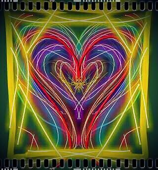 Hearts Digital Art - Neon Heart by Denisse Del Mar Guevara