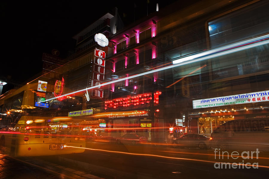 Neon Photograph - Neon Madness II by Pete Reynolds