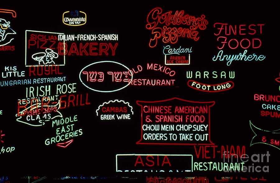 20th Century Photograph - Neon Signs, 1937-1971 by Granger