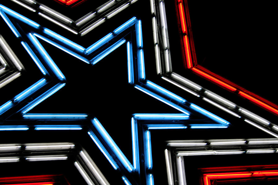 Neon Photograph - Neon Star by Darren Fisher
