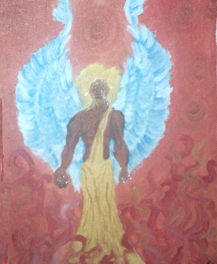 Angel Painting - Nephilim by Violette Meier