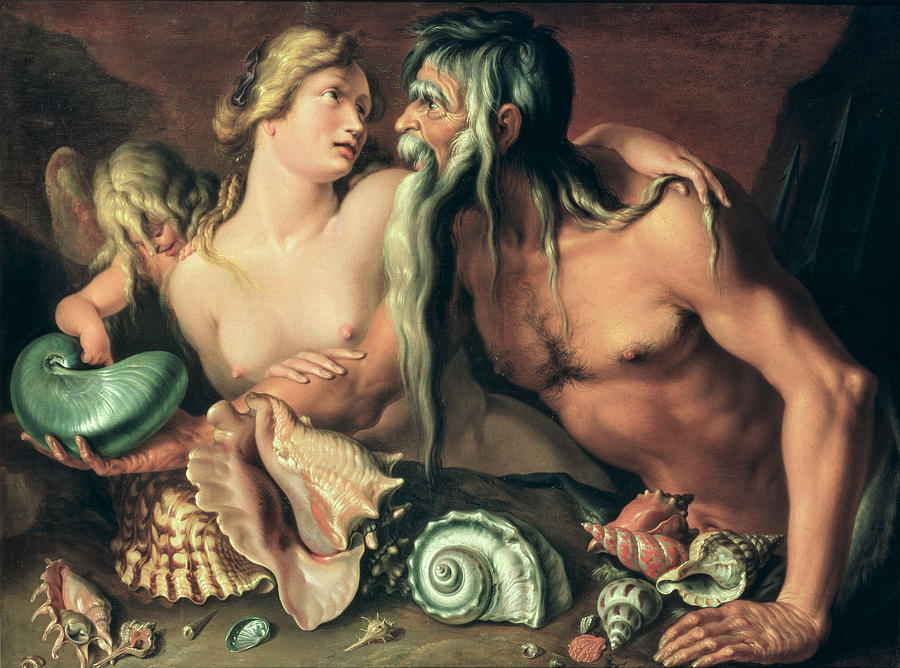 Neptune And Amphitrite Painting - Neptune And Amphitrite by Jacob II de Gheyn