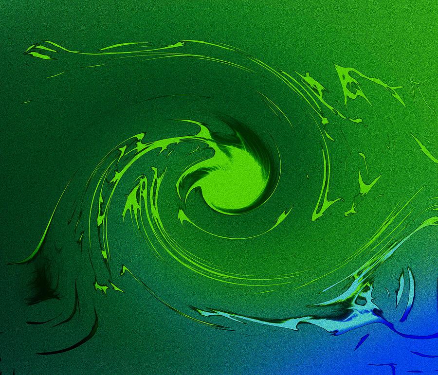 Energy Ocean Sea Painting - Neptunes Anger by Steve K