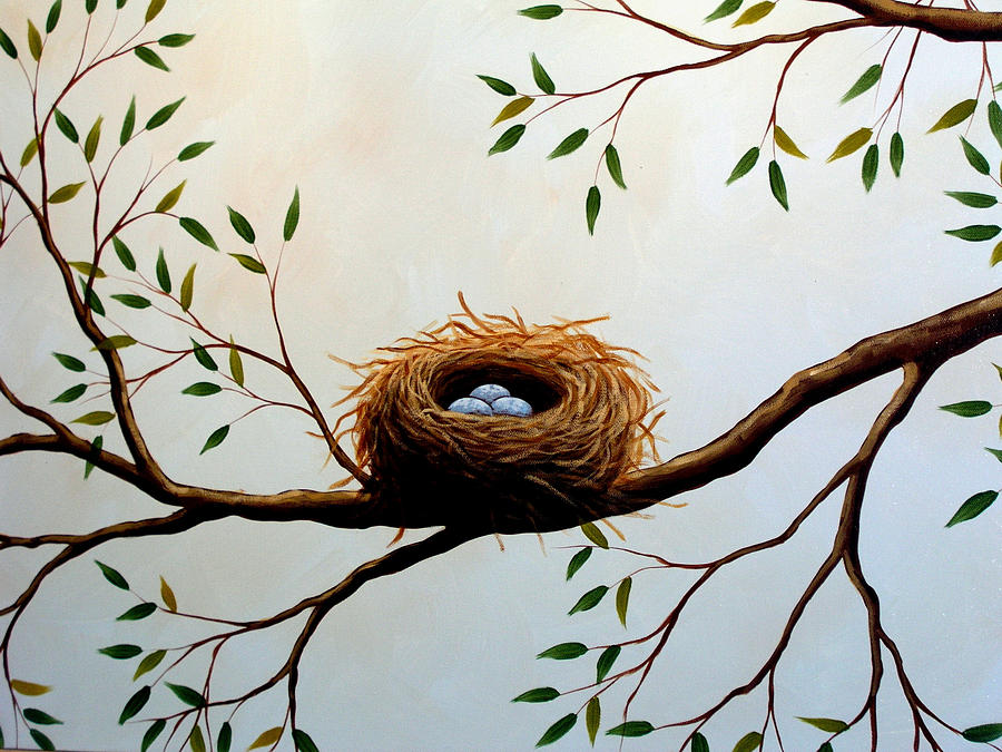 Nature Painting - Nesting by Amy Giacomelli