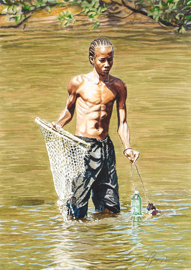 Net Painting - Netfishing by Gregory Jules