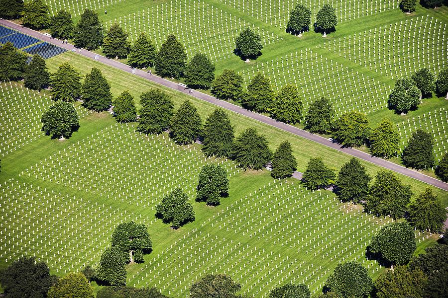 Horizontal Photograph - Netherlands, Margraten World War II Cemetery by Frans Lemmens