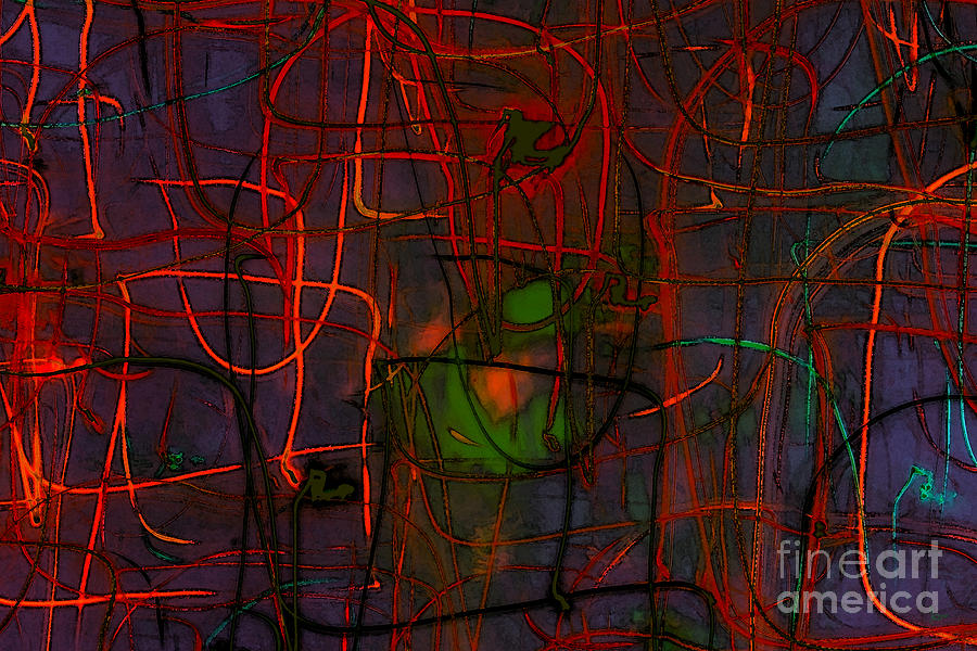 Abstract Digital Art - Networking by Jeff Breiman