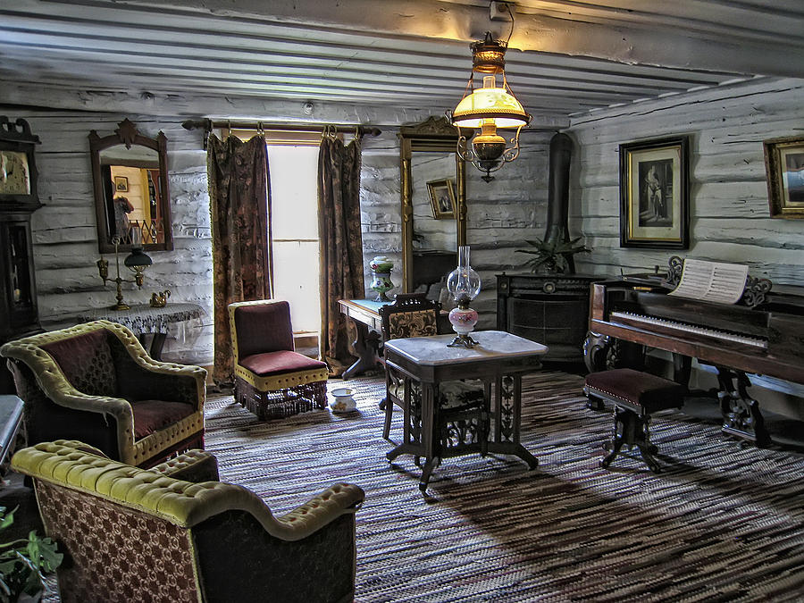 Nevada City Hotel Parlor Montana Photograph By Daniel Hagerman
