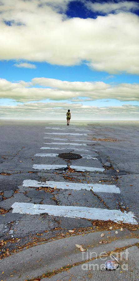 Crosswalk Photograph - Never Ending Crosswalk by Jill Battaglia