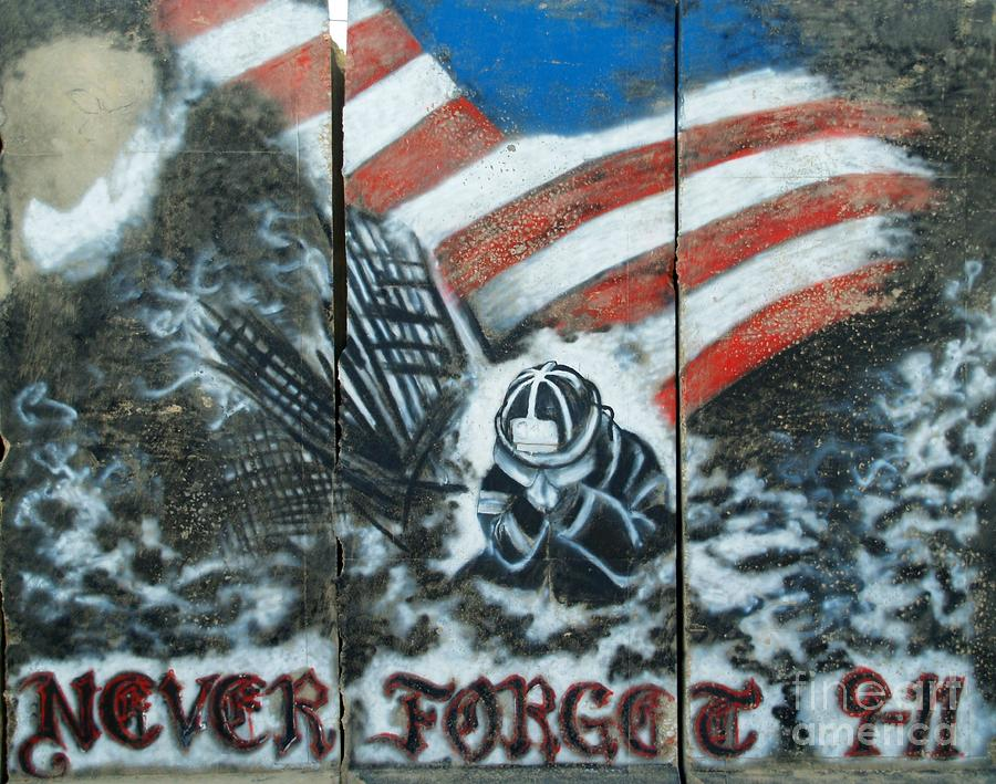 September 11th Photograph - Never Forget 9-11 by Unknown