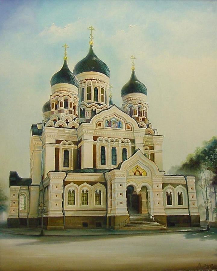 Citiscapes Painting - Nevsky Catedral by Ahto Laadoga