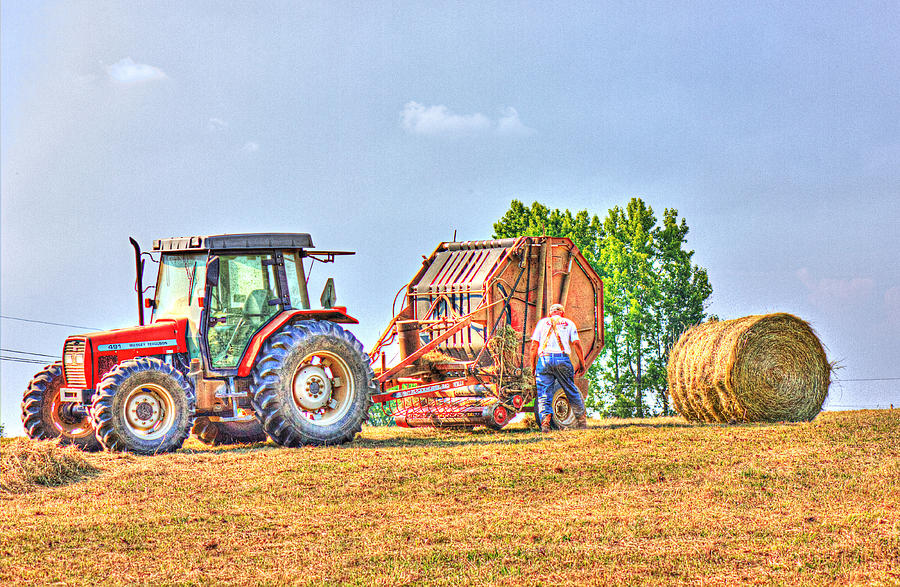 Hay Photograph - New Bale by Barry Jones