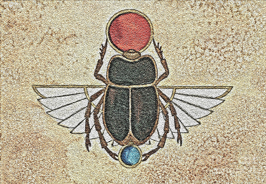 Scarab Painting - New Beginnings by Nora Blansett
