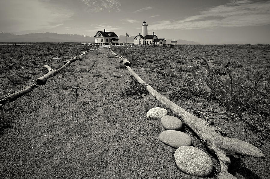 New Dungeness Lighthouse Photograph - New Dungeness Lighthouse by Dan Mihai