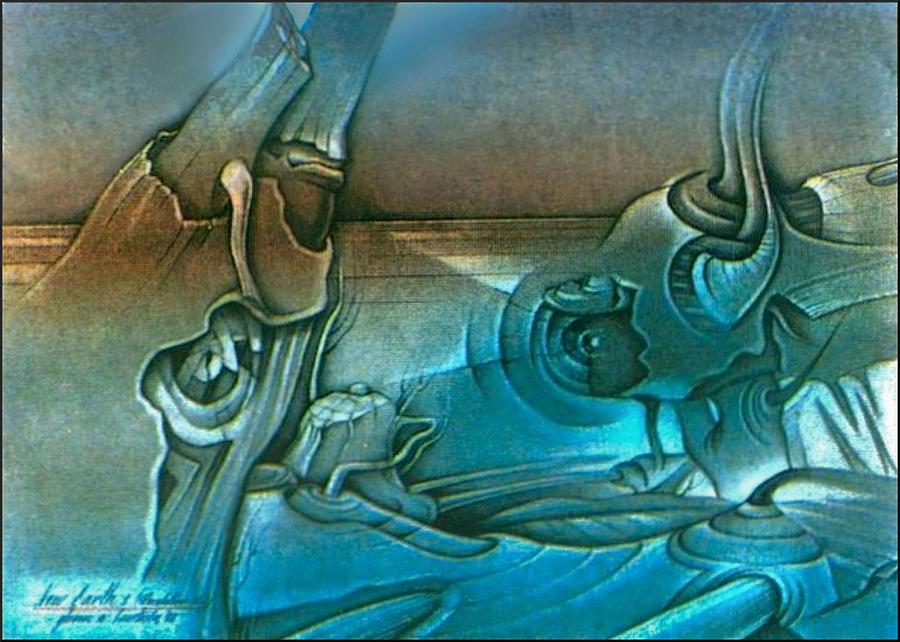 Horizon Drawing - New Earth1 1992 by Glenn Bautista