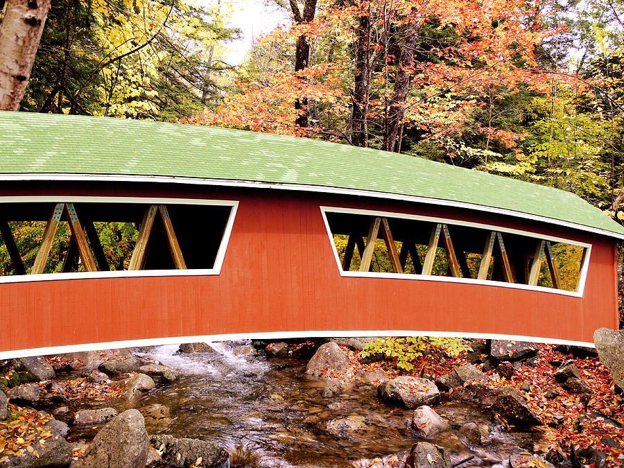Bridge Photograph - New England Covered Bridge by Tony Craddock