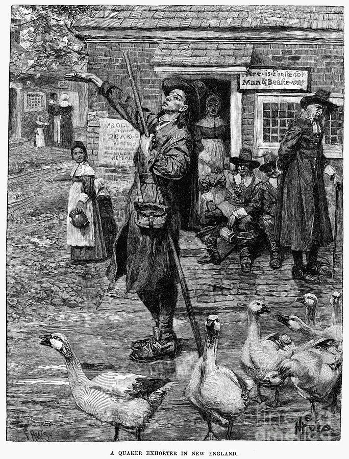 1660 Photograph - New England: Quaker, 1660 by Granger