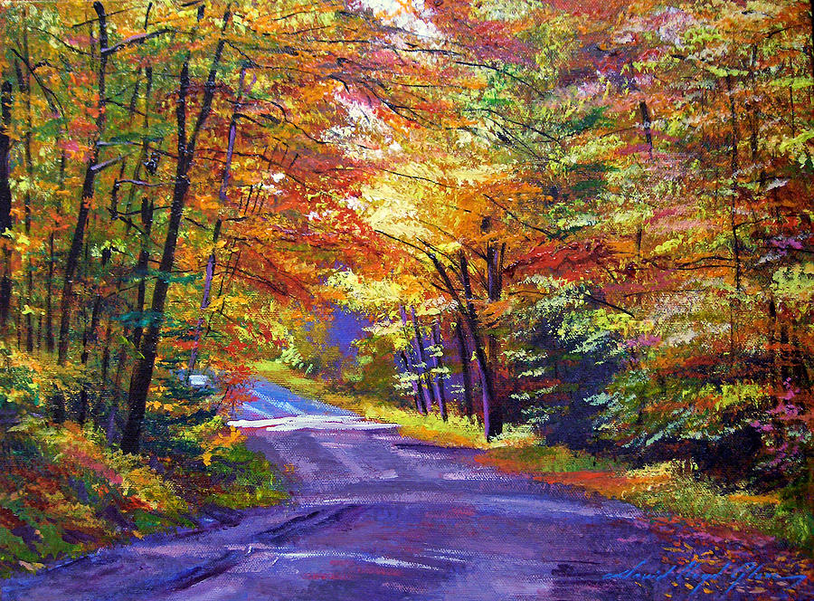 Landscape Painting - New England Roads by David Lloyd Glover