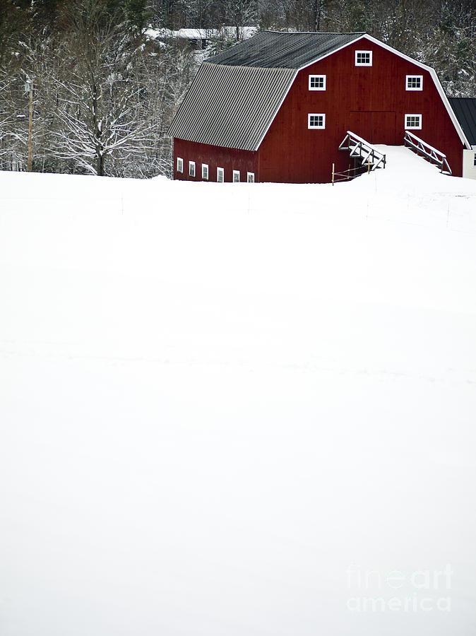 Barn Photograph - New England Winter by Edward Fielding