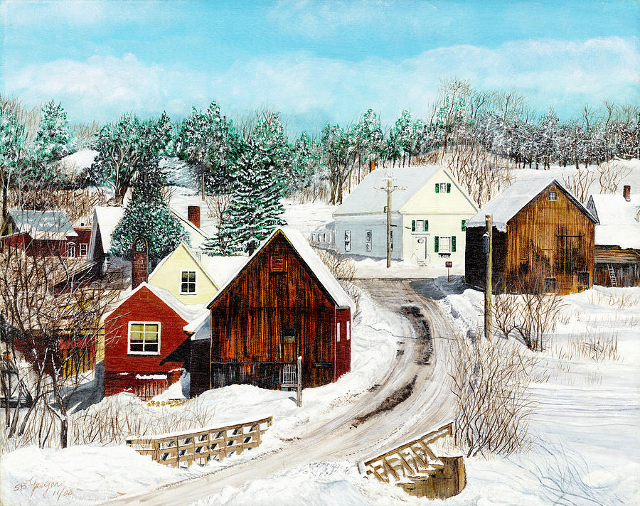 Painting - New England Winter by Stuart B Yaeger