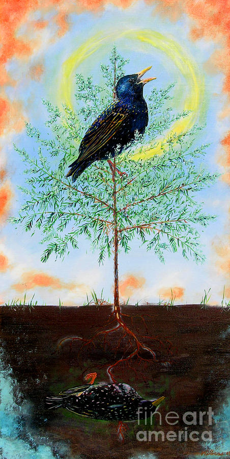 Tree Painting - New Growth by Aaron Wilbers