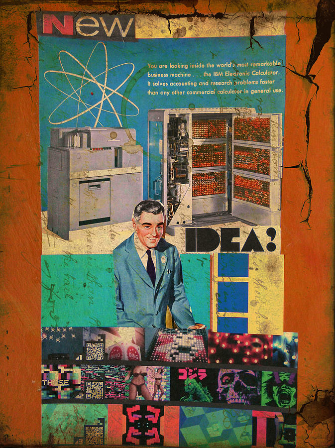 Collage Mixed Media - New Idea by Adam Kissel