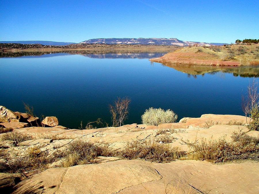 Lake Photograph - New Mexico Series - Abiquiu Lake by Kathleen Grace