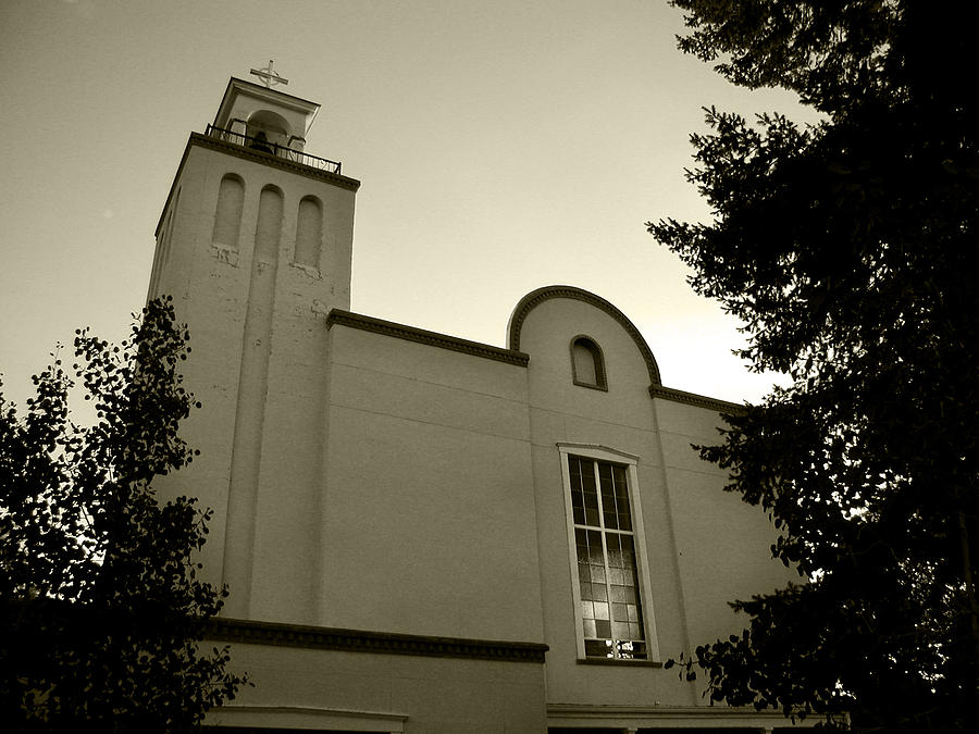 Church Photograph - New Mexico Series - Our Lady Of Guadalupe Church by Kathleen Grace