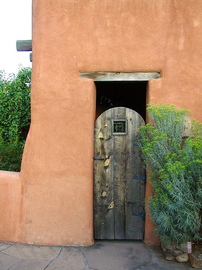 Southwestern Photograph - New Mexico Series - Santa Fe Doorway by Kathleen Grace