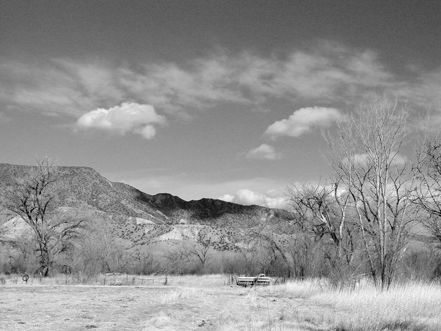 Landscape photograph new mexico series winter desert beauty black and white by kathleen grace