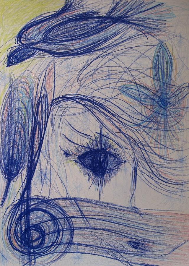New Morning Star Drawing by Elena Soldatkina