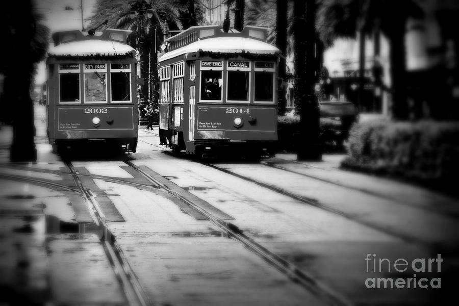 New Orleans Photograph - New Orleans Classic Streetcars. by Perry Webster