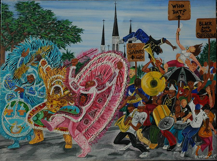 New Orleans Painting - new Orleans Secondline by Mccormick  Arts