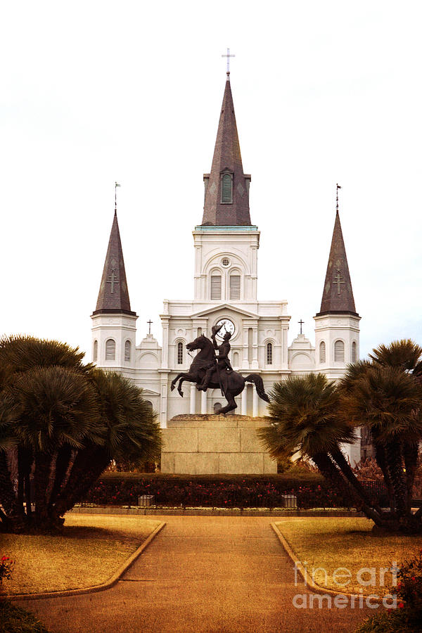 New Orleans Photograph - New Orleans St. Louis Cathedral by Kim Fearheiley
