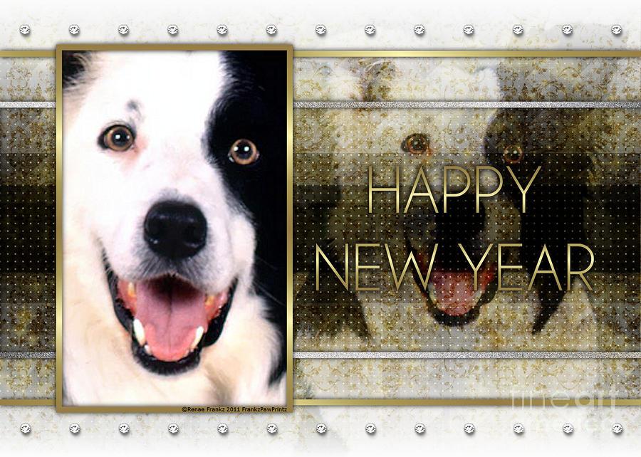 border collie digital art new year golden elegance border collie by renae crevalle