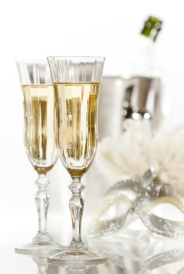 Champagne Photograph - New Year Champagne by Amanda Elwell