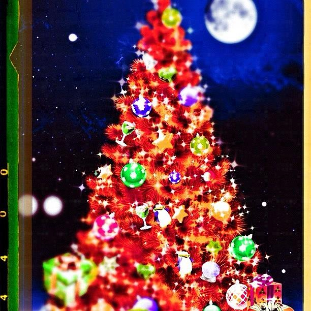 New Year Photograph - New Year Tree In Apple Application by Marianna Garmash