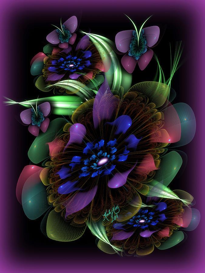 Fractal Digital Art - New Years Bouquet by Karla White
