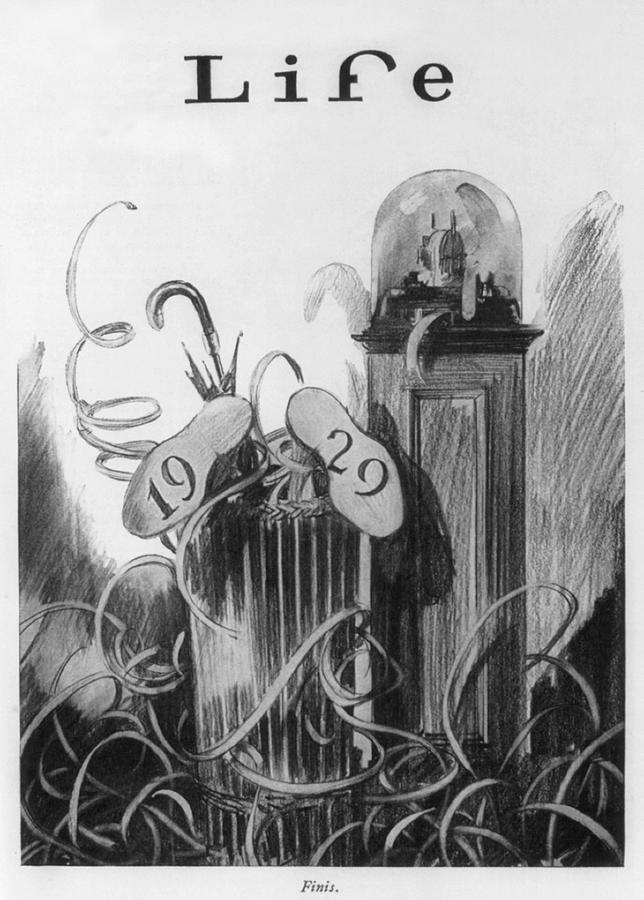 History Photograph - New Years Cartoon Related To The 1929 by Everett