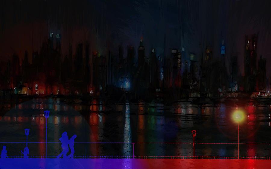Big Apple Painting - New York Bridges by Steve K