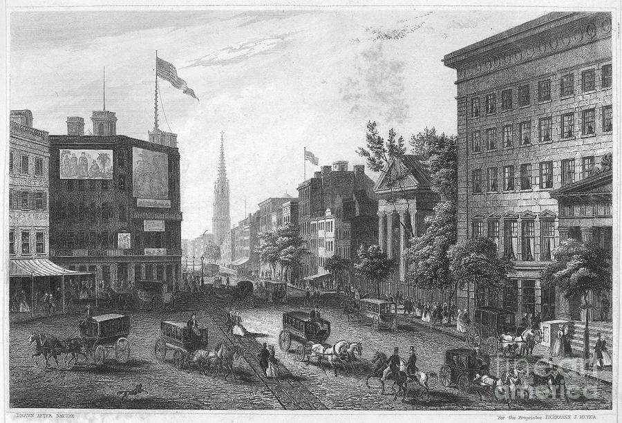 New York: Broadway, 1850 Photograph by Granger