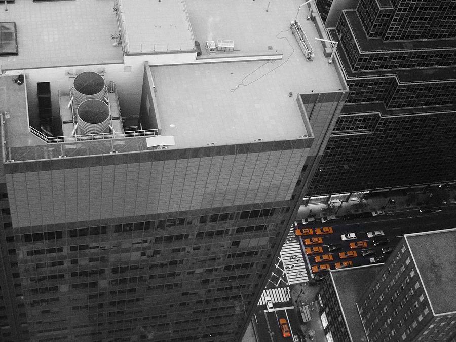 New York Photograph - New York Cabs by Naxart Studio