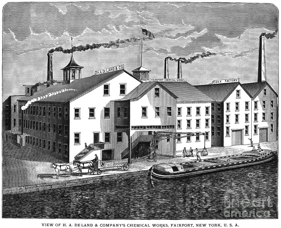 1876 Photograph - New York: Chemical Works by Granger