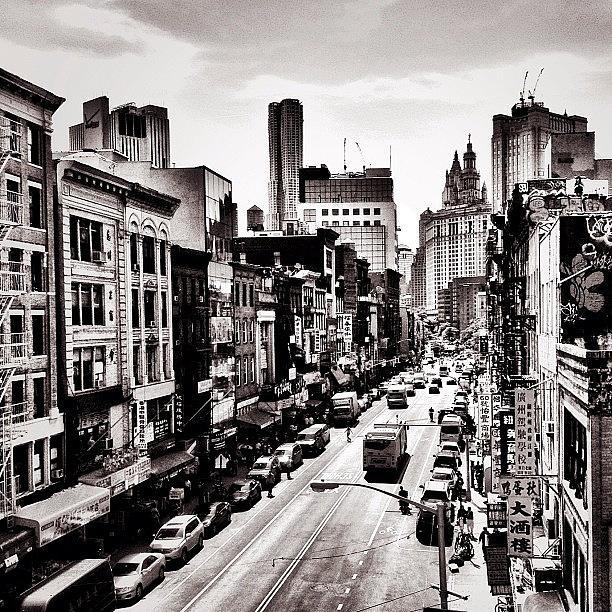 New York City Photograph - New York City - Above Chinatown by Vivienne Gucwa