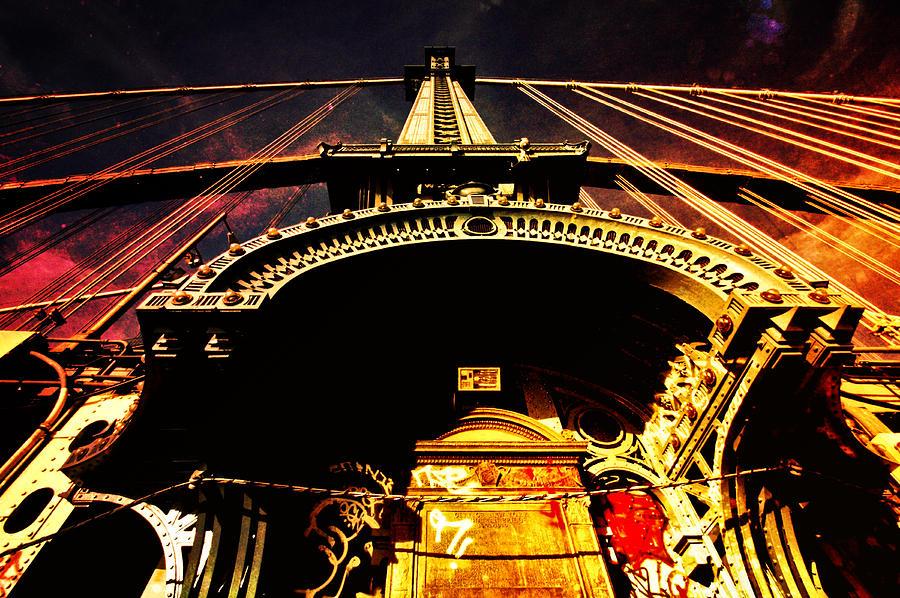 Manhattan Bridge Photograph - New York City Architecture by Vivienne Gucwa