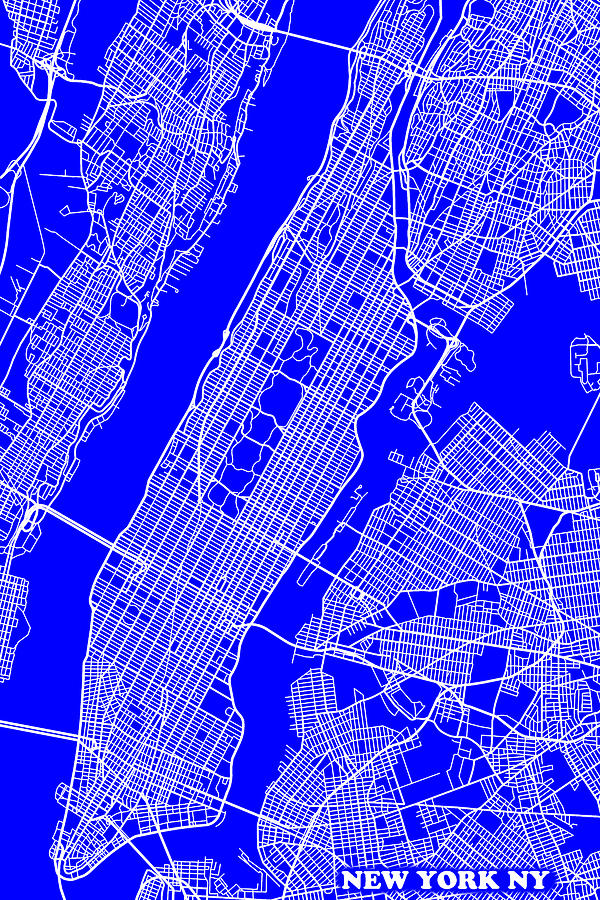 New York City Map Streets Art Print Photograph by Keith Webber Jr