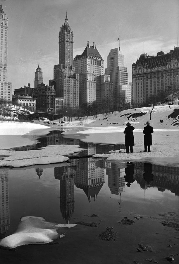 1930s Photograph - New York City, Plaza Buildings by Everett